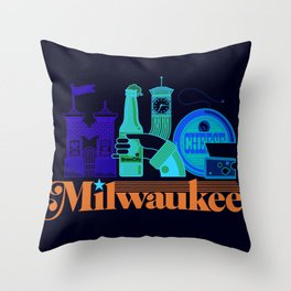 MKE ~ Milwaukee, WI Throw Pillow