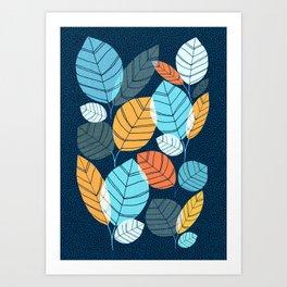 Contemporary Leaf Print Art Print
