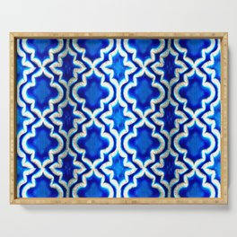 Blue Turkish Pattern Serving Tray