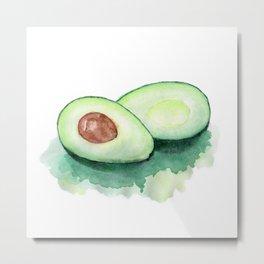 Avocado Watercolor Metal Print