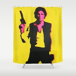 Han Solo Pop Art Shower Curtain