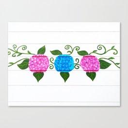 Handpainted hydrangeas Canvas Print