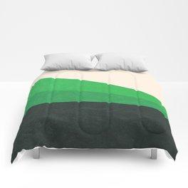 Stripe V Green Fields Comforters