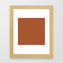Clay Solid Deep Rich Rust Terracotta Colour Framed Art Print