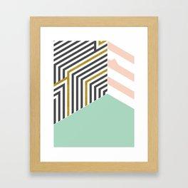 Mint&Gold Room #society6 #decor #buyart Framed Art Print