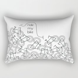 Ride my Bike Rectangular Pillow
