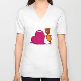 Teddy Valentine #2 Unisex V-Neck