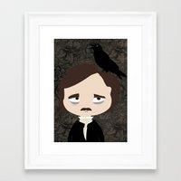 edgar allan poe Framed Art Prints featuring Edgar Allan Poe by Creo tu mundo