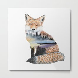 Spirit of the Fox Metal Print