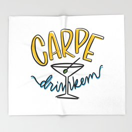Carpe Drinkem Throw Blanket