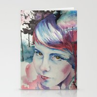 emily rickard Stationery Cards featuring Emily by Tony Unser