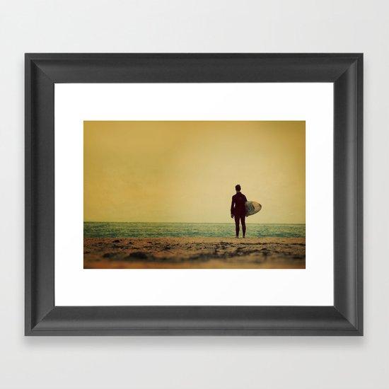 Waiting In Venice - California Surf Print Framed Art Print
