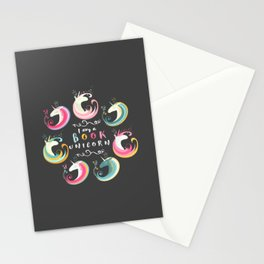 Book Unicorn Stationery Cards
