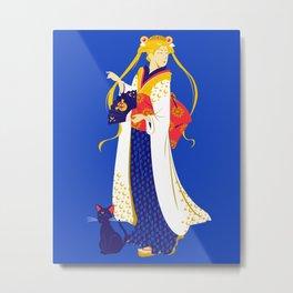 Geisha Moon Metal Print
