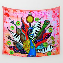 FEATHERED FANFARE Wall Tapestry