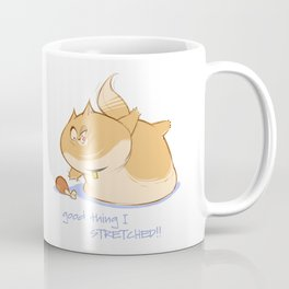 Funny Fat Cat Stretching Coffee Mug