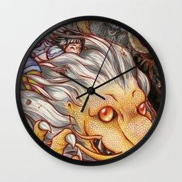 she and fantasy III Wall Clock