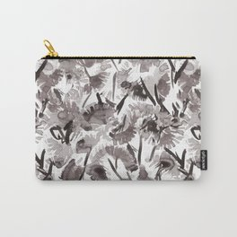 Painted Floral Carry-All Pouch