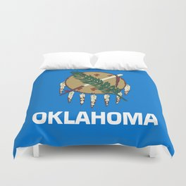 flag of oklahoma-Oklahoma,south,Oklahoman,Okie, usa,america,Tulsa,Norman,Broken Arrow Duvet Cover
