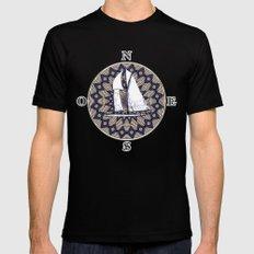 sailing boat Black Mens Fitted Tee MEDIUM