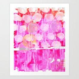 Luminosity of cerise Art Print