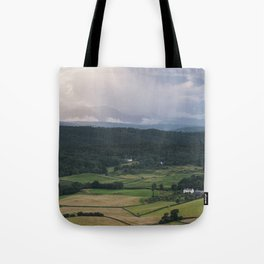 Sunset and rainclouds over Cartmell Fell. Cumbria, UK. Tote Bag