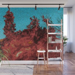 Heat Rushes In Wall Mural