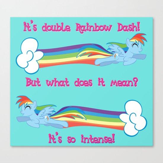 Double Rainbow Dash Canvas Print