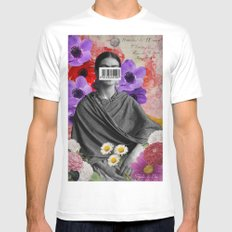 Public Figures Collection -- Frida by Elo White Mens Fitted Tee MEDIUM