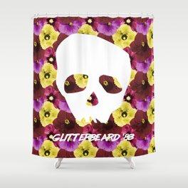 Glitterbeards Never Say Die  Shower Curtain