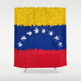 Extruded flag of Venezuela Shower Curtain