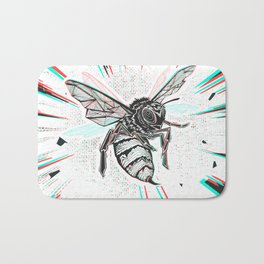 This wasp is pissed! Bath Mat