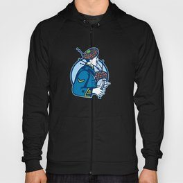 Bagpiper Bagpipes Scotsman Retro Hoody