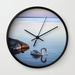 A beautiful swan Wall Clock