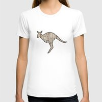 wooden T-shirts featuring wooden kangaroo by Vin Zzep
