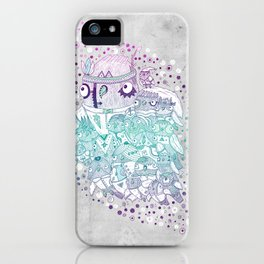Glam fashion owls iPhone Case