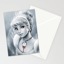 Clock Girl Stationery Cards