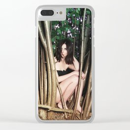 Nicolas Caged Clear iPhone Case