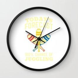 Juggling Jenkins Jugglers Gift Juggle Clubs Wall Clock