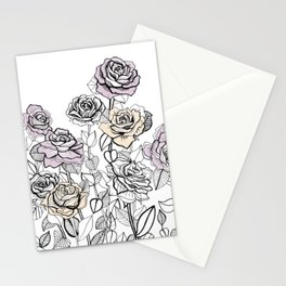 Rose Bush Drawing | Graphic Design Stationery Cards