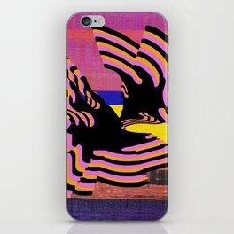 coral warp iPhone Skin