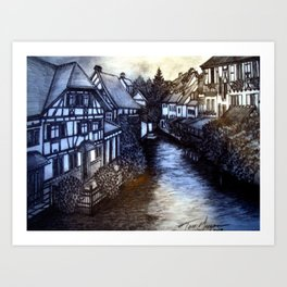 Irish Village Art Print