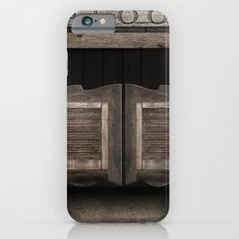 Wild West Cowboy Saloon iPhone Case