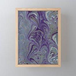 Purple, Blue, & Green Marbled Framed Mini Art Print