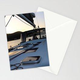 Beneteau Boat deck sunset Stationery Cards