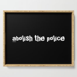 Abolish The Police Serving Tray