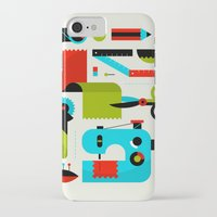 kit king iPhone & iPod Cases featuring Sewing Kit by koivo