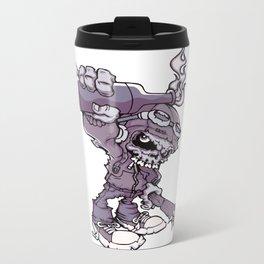 Anarchy Skeleton - Amethyst Smoke Metal Travel Mug