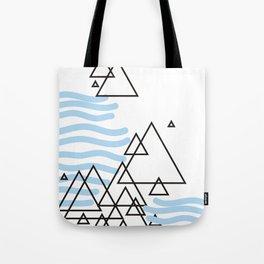 Ocean Mountains Island Tote Bag