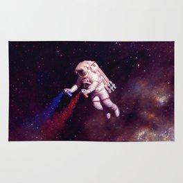 """Shooting Stars"" - Astronaut Artist Rug"